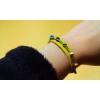 Yellow leather candy bracelet