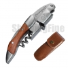 Corkscrew Wine Opener Stainless Steel Bottle Opener Screwpull Waiter with unique burls rosewood handle Polish finishing