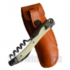 Bottle Opener Laguiole Waiter Bovine bone Handle Corkscrew Stainless Steel Wine Opener leather sheath